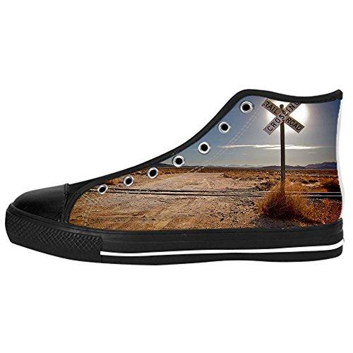 Dalliy sch?ne w¨¹stenlandschaft Men's Canvas shoes Schuhe Lace-up High-top Sneakers Segeltuchschuhe Leinwand-Schuh-Turnschuhe (Raiders Schuhe Baby Oakland)