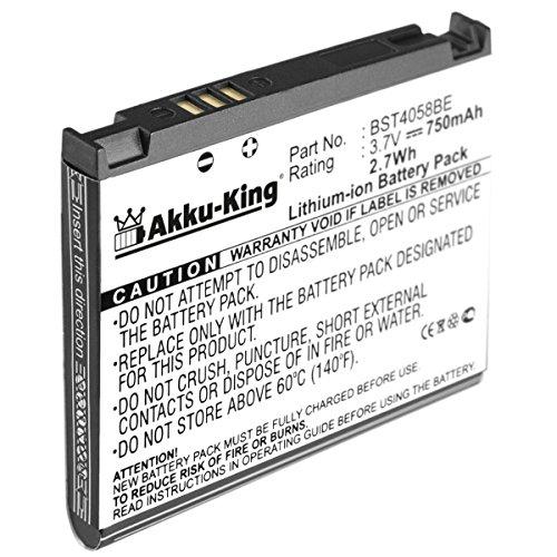 Akku-King Akku kompatibel zu Samsung SGH-D800, SGH-D802, SGH-D806, SGH-D807, SGH-D820, SGH-D828, SGH-D870 - ersetzt BST4968B BST5168BA - Li-Ion 750mAh