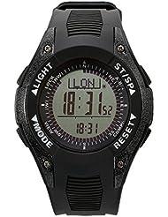 Sunroad fr8202a reloj deportivo multifunción barómetro altímetro termómetro previsión meteorológica digital reloj negro/plata