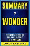 Summary of Wonder by R. J. Palacio