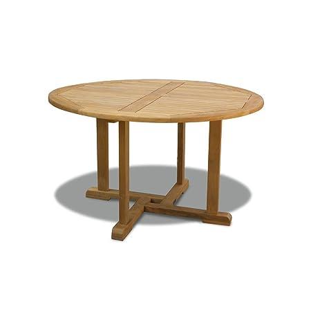 Sissinghurst Teak Round Garden Table (1.2m) - Jati Brand, Quality & Value  Amazon.co.uk Garden & Outdoors