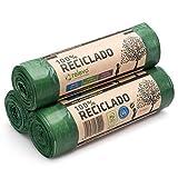RELEVO 100% Reciclado Bolsas de Basura, Extra Resistentes 30 L, 45 Bolsas