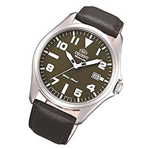 Orient Classic men's watch with automatic date and leather strap, FER2D009F0