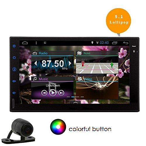 EinCar Android 5.1 Autoradio-Empfnger mit Bluetooth Lrm 2 7-Zoll-Touchscreen AM / FM-Radio GPS-Navigation Auto Stereo Quad-Core-Untersttzung WiFi / OBD2 / 1080P / Spiegel Link / Lenkrad-Steuerung (Remote Radio Fm W Am /)