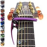 """nordell """"Pro Déclencheur de libération rapide/changement/Capodastre pour ukulélé pour guitare acoustique/électrique violet"""