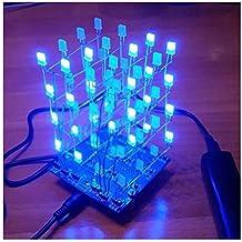 4 * 4 * 4 luz LED Cuadrada Blanca Azul Rayo Azul Cubo 4x4x4 Cubo LED