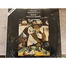 ENESCU, Georges: Violin Sonata nr.3 in A minor, op.25 - BARTOK, Bela: Sonata for solo violin ----ENESCU Georges (Romania); BARTOK Bela (Ungheria)-CYMERMAN Claude (pianoforte); SHERBAN Lupu (violino)-ALTARUS - STATI UNITI-Vinyl LP-AIR 2 9012