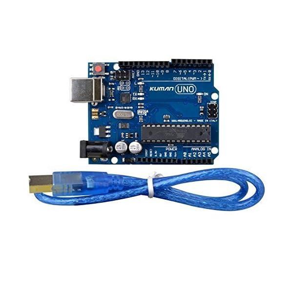 51CPMZTQM7L. SS600  - Kuman Más Completo y Avanzado de Arduino Mega Starter Kit para Arduino Uno R3 con Guías Tutorial Detallada, MEGA2560, Mega328,5V Motor Paso a Paso, Kit Arduino con Placa