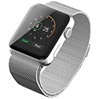 Smart Watch Stainless Steel Milanese Loop Band 42mm, Silver