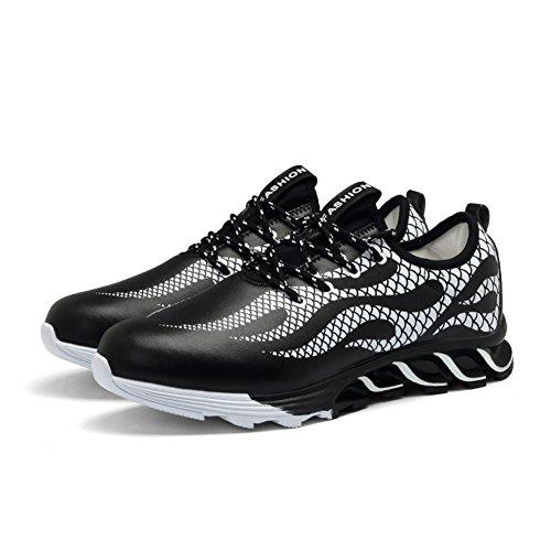 Gomnear Fonctionnement Chaussures Hommes Été Antidérapant Respirant Athlétique Mode Poids léger sport Aptitude En marchant Formateurs Noir