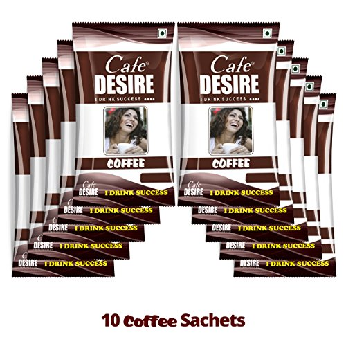 Cafe Desire Instant Coffee Premix, 10 Sachets x 15 g  available at amazon for Rs.180