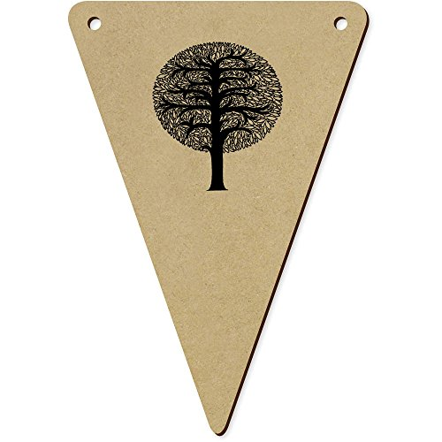 5 x 140mm 'Arbre Rond' Fanions Triangles en Bois (BN00018910)