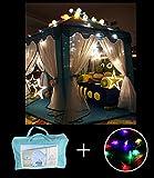 WER Blau Princess Castle Kinder Spielzelt mit 3m weiß Stern