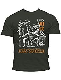 Dirty Ray Arts Martiaux Sumo Japanese Wrestling t-shirt homme DT30