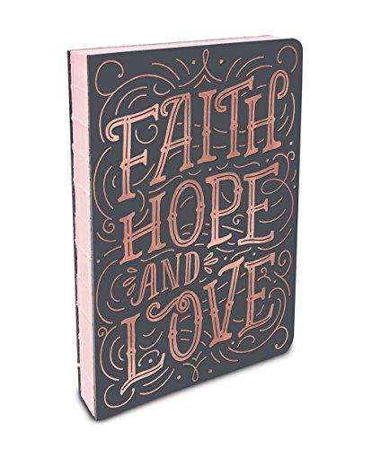 mit festem Einband, kompakt, Deconstructed Tagebuch, 3 Stück Faith, Hope, Love ()