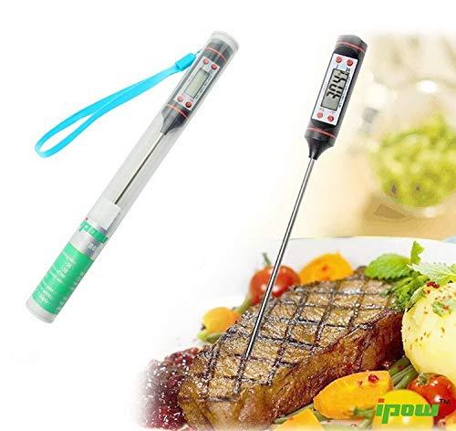 Temperaturmesswerkzeug Digitale Sofort lesen Thermapen für Lebensmittel Fleisch Wein Jam Steak Candy Kitchen Grill Kochen Thermometer Probe