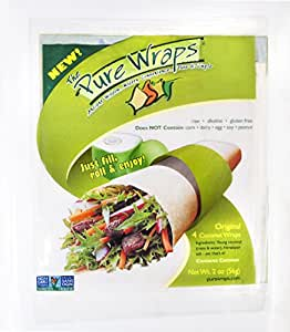 Coconut Wraps - Low Carbohydrate & Sugar - Gluten Free Bread/Tortilla Alternative - Healthy, Easy & Safe - 2 packs of 4 Count Original