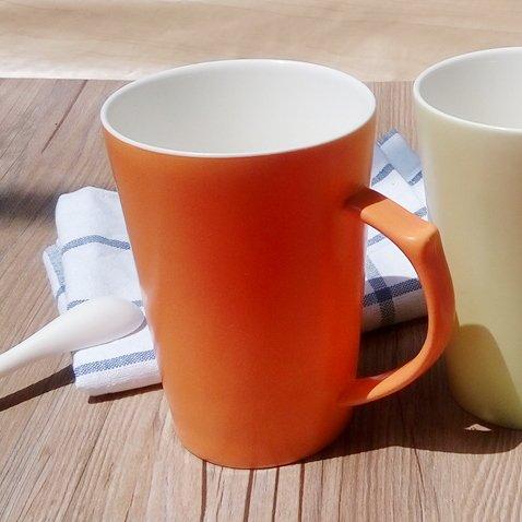 DZXYA Set di 6 tazzine da caffè tazza ceramica caramelle latte di colore arancio ,le coppie prima colazione