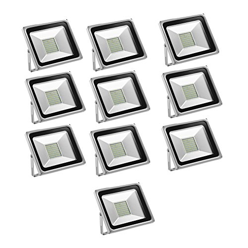Foco proyector LED 50W para exteriores, 3500LM, Blanco frio 6000-6500K/Blanco cálido 2800K-3500K...