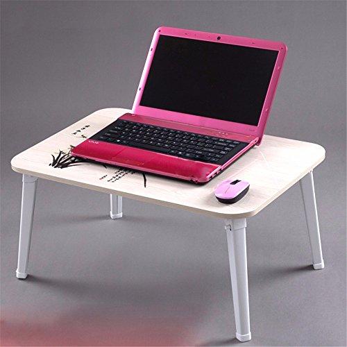 QUIEANT Computer scrivania letto semplice piccolo portatile scrivania Casa Scrittoio pieghevole,X 60 * 40CM