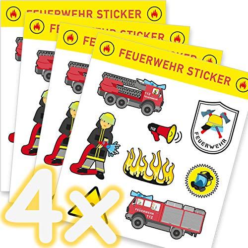 cker-Set * Feuerwehr * als Mitgebsel, als Geschenk oder zum Basteln | Feuerwehrauto Aufkleber Bilder Kinder Kindergeburtstag Geburtstag ()