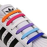 INMAKER Schnürsenkel ohne Binden; elastischer Silikon Schnürsenkel für Erwachsene und Jugend; 3 Größen zur Anpassung von allen Typen der Füße und der Schuhe