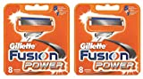 8 oder 16 Klingen Gillette Fusion Power Rasierklingen (16 Stück)