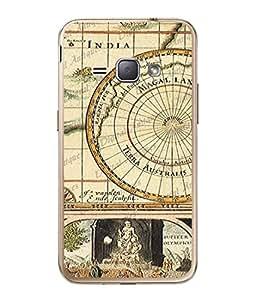 PrintVisa Designer Back Case Cover for Samsung Galaxy J1 (6) 2016 :: Samsung Galaxy J1 2016 Duos :: Samsung Galaxy J1 2016 J120F :: Samsung Galaxy Express 3 J120A :: Samsung Galaxy J1 2016 J120H J120M J120M J120T (Vintage Design Of Rare Map)