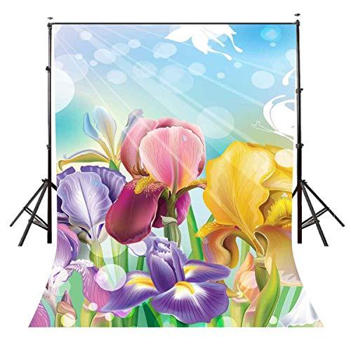 e Blumen Hintergrund Fantasie Blumen Cartoon Animierte Fotografie Hintergrund und Studio Fotografie Kulisse Requisiten LYNAN364 ()