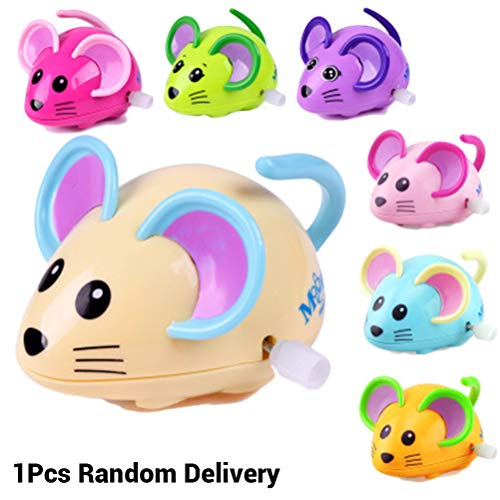 EisEyen Wireless Mäuse Uhrwerk Laufen Spielzeug mit Sound für Baby, Katze Hund Haustier