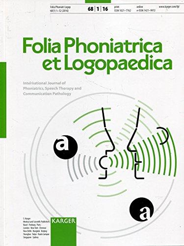 Folia Phoniatrica et Logopaedica Heft 1/2016 ISSN1021-7762