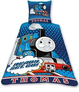 Parure de lit Thomas le train 1 personne - 100% coton