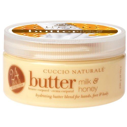Matte Nail-strengthener (Cuccio Naturale - 24 Hydrating Butter -Mischung von Milch und Honig 226g)