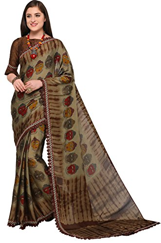 EthnicJunction Silk Saree With Blouse Piece (EJ1168-7015_Grey_Free Size)
