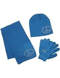 ab5a7d582ffd CTM - Ensemble bonnet, écharpe et gants - Uni - Fille