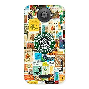 Coffee SB Multicolor Back Case Cover for HTC One X