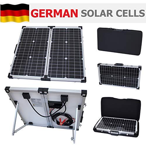 Este photonic universo 60W plegable solar kit incluye todo lo que necesitas para la carga de batería de 12V:-Alta eficiencia 30W + 30W plegable paneles solares-Advanced totalmente automatizado 10A controlador de carga solar con muchas funci...
