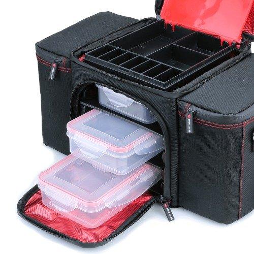 BeFit Qualitativ Mahlzeitentasche in Schwarz - Isolierte Kühltasche mit 3 Mahlzeitenbehältern und 2 Kälte-Gel-Beuteln für Arbeit, Studio und Picknicks - Gesunde Ernährung für Männer & Frauen!