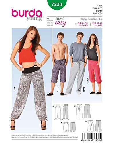 Burda B7230 Patron de Couture Pantalon 19 x 13 cm