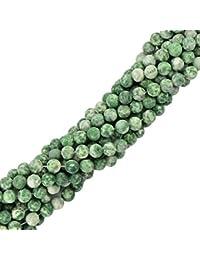 8mm Ronda Heladas De Jade Verde De Piedras Preciosas Perlas Sueltas De La Joyería De DIY Que Hace 15 Pulgadas