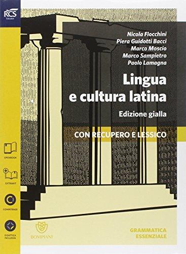 Lingua e cultura latina e lessico. Grammatica-Percorsi-Lessico-Repertori lessicali. Ediz. gialla. Per le Scuole superiori. Con e-book. Con espansione online: 1
