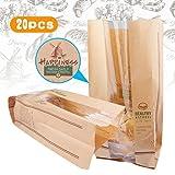 A-szcxtop wiederverwendbar Toaster Staubbeutel Pack 20Stück Toast Brot leicht zu reinigen für Verpackung Sandwich Gebäck Wurst Rollen Brot HAPPINESS Pattern