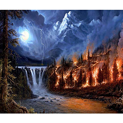(30x40cm 5D Embroidery Paintings Rhinestone Sweet Home Embroidery Painting DIY Diamond Painting Weihnachten Cross Stitch Wall Decorations with Full Flap Diamond Picture Cross Stitch Kit)