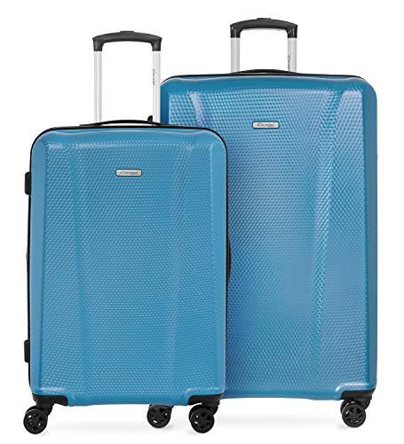 Cavalet Aicon - 2er Kofferset,  Check-in Gepäck mittelgroßer Koffer 66cm + 76cm großer Reisekoffer, Hartschale Polycarbonat, TSA, gummierte Spinner,...
