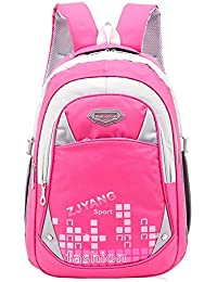 Atermia Cool Bookbag Girls Backpacks For School Book Bags For Kids Rose Red