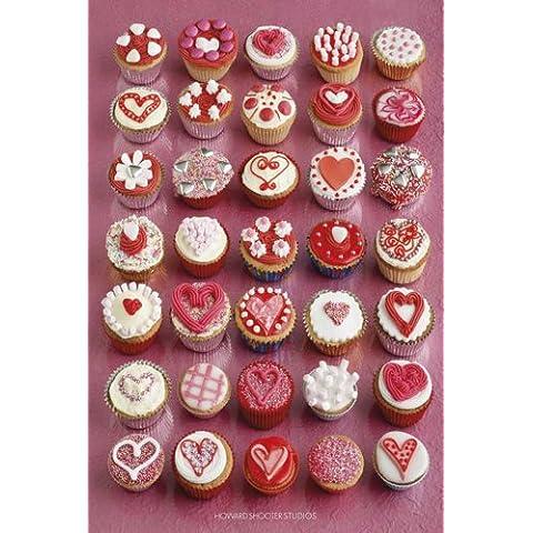 Empire Merchandising - Poster, foto di dolcetti Made With Love, autore Howard Shooter, fornito con accessori per il montaggio Avec 2 baguettes