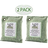 Moso Natural Air Purifying Bag 200G Green Color Naturally Removes Odors,Allergens And Harmful Pollutants . Reuse Upto 2 Years , Pack Of (2)