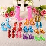 12 Pairs Fashion Dolls Shoes Heels Sanda...