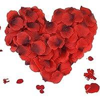 3000 Stück Rosenblätter, ASANMU Rosenblüten Rosenblätter Rosen Blätter Blüten Kunstblumen Seidenblumen für Hochzeit Deko, Valentinstag, Taufe, Geburtstag Party Dekoration, Romantische Atmosphäre (Rot)