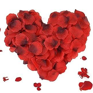 3000 Piezas Pétalos de Rosa, ASANMU Petalos de Rosa Rojos Artificiales Pétalos de Rosa para Bodas Decoración, Fiestas, día de San Valentín y Ambiente Romántico, Proponer, Fores de Boda, Confeti